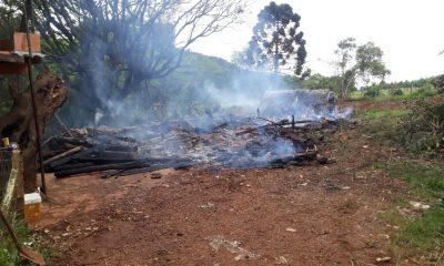 incêndio em galpão, Incêndio em Morro Reuter mobilizou